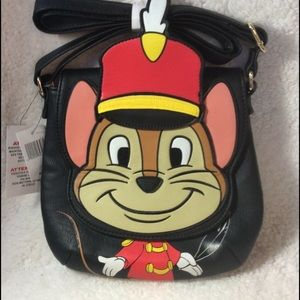 Disney Loungefly Timothy the Mouse crossbody bag.